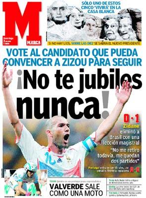 Hommage de la presse Espagnole à zizou